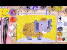Как нарисовать мамонта - урок рисования для детей от 4 лет, рисуем дома поэтапно - YouTube