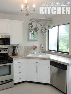 The Kitchen To Do List: A Progress Report! Great Ideas For Maximizing The  Space In Small Kitchens I Love The Corner Sink.