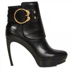 b9d303f15aad Shop Women s Alexander McQueen Heel and high heel boots On Sale. Black Ankle  ...