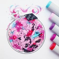 Kawaii Chibi, Kawaii Art, Anime Chibi, Kawaii Anime, Kawaii Drawings, Cute Drawings, Manga Art, Anime Art, Copic Marker Art