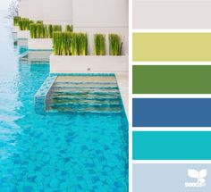 color swim color palette from Design Seeds Colour Pallette, Color Palate, Colour Schemes, Color Combos, Color Patterns, Mother's Day Colors, Paint Colors, Summer Colours, Design Seeds