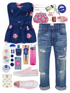 """""""Lindsay - $1,855.98"""" by shazellove ❤ liked on Polyvore featuring Current/Elliott, Converse, Vera Bradley, CamelBak, ban.do, Lilly Pulitzer, SHOUROUK, Kate Spade, Nivea and Topshop"""