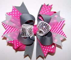 Let's Shimmer Baby! Over The Top Hair Bow