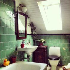 Det står växter lite överallt just nu, omplanterade och hemkomna efter vila i källaren. Och det finns inte riktigt plats för alla just nu innan vi har fönsterbrädor. Det blir lite utanförboxentänk på placeringarna och en liten rackare har fastnat på badkarskanten. Trivs den får den väl stanna tänker jag. Mitt #vårtecken till #fotoutmaningmars2014 #badrum #20tal #byggnadsvård #byggfabriken #bathroom #Padgram