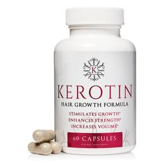 Kerotin Hair Growth Vitamins for Natural Longer, Stronger, Healthier Hair - Hair Loss Supplement Enriched with Biotin, Folic Acid, Saw Palmetto - Hair Vitamins to Grow Thick Hair; 1 Month Supply - Walmart.com
