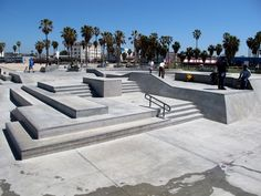"""One of my favorite places """"Venice Skate Park. Skate 3, Skate Ramp, Skateboard Ramps, Skateboard Design, Outdoor Playground, Parking Design, Forest Park, Outdoor Landscaping, Landscape Architecture"""