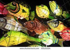 stock photo : Paper Fish Lanterns