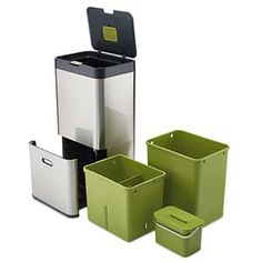 Kitchen Recycling Bin Waste Disposal System By Joseph Joseph 50 L ...