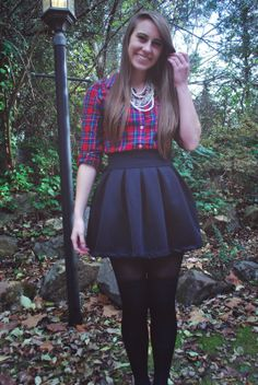 Peter Pan Collar Top And Brandy Melville Glenna Skirt