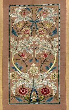William Morris Silk on Silk