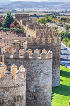 "visitheworld: ""On the walls of Avila / Spain (by Graeme Churchard). """