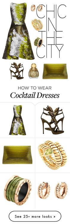 """Chic."" by schenonek on Polyvore featuring Carolina Herrera, Bulgari, Giuseppe Zanotti, VBH and Christian Dior"