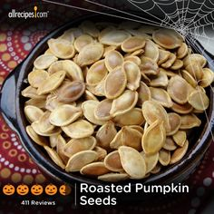 "Roasted Pumpkin Seeds | ""Here is my helpful hint. When cleaning out the inside of the pumpkin use an ice-cream scoop. I broke my large spoon scooping one year and went to the drawer and saw the ice-cream scoop, tried it and never looked back. Love roasted pumpkin seeds."""