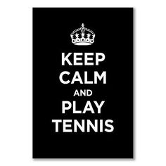 A3+ small #poster: keep calm play #tennis #black dark coal ww2 wwii parody sign,  View more on the LINK: http://www.zeppy.io/product/gb/2/351892621773/