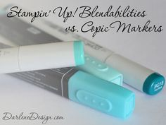 Stampin' Up! Blendabilities vs Copic Markers - a video review and comparison.