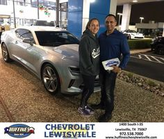 We had a wonderful experience at Huffines Chevrolet! Our salesperson, Henry Boyd, was very professional, knowledgeable, and patient with us as we shopped around. One of the most pleasant car buying experiences we have ever had. - Tony Crotzer #HappyCustomers #FridayFeeling
