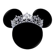 Silueta de la cabeza de Minnie con tiaras.