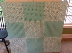 Here is the sister project to my stenciled table. Again, I am using the Stephanie's Lace Allover Stencil from Cutting Edge Stencils. You can find it here http:/…