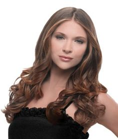 """The hairdo® multi-level, 23in wavy one piece clip-in extension that creates easy, fashionable style without the hassle of working with several individual wefts. Short hair transforms into luxurious below the shoulder length hair. Long hair becomes thick and full. Clip-in for length and volume.   Available in 11 Salon inspired colors.   23"""" Wavy Extension How-To Video"""