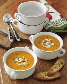 Just bought & love these Large Double-Handled Soup Bowls from William Sonoma.  Perfect for all the soups and stews I plan to make this winter.