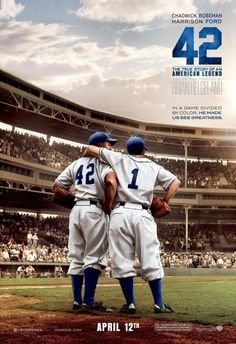 The new film 42 tells the story of Jackie Robinson's heroic effort to integrate Major League Baseball. Harrison Ford Movies, Baseball Movies, Movie In The Park, High School History, Fine Black Men, Charles Bronson, American Legend, Jackie Robinson, Movies