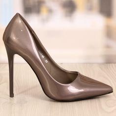 Poze Pantofi Stiletto Bambo Gri Cod: 710