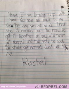 The Ultimate Breakup Letter…