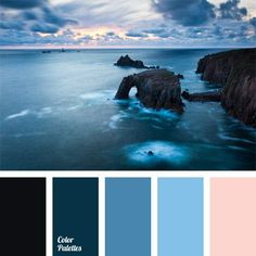 You can feel the coolness that comes from the sea looking at this palette. A large number of shades of dark blue are shaded with beige color. Everything is simple and concise. Such colors will be appropriate in the bathroom, pool or bath. It will also look harmonious in a beach dress of beautiful lady.