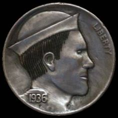JON DAKE - SAILOR* - 1936 BUFFALO PROFILE Hobo Nickel, Sailor, Buffalo, Coins, Profile, Scrapbook, Art, User Profile, Art Background