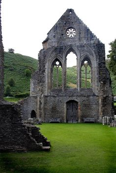 Ruins of Valle Crucis Abbey in Denbighshire / Wales (by Silver...