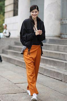 Love this orange pants! - Milan