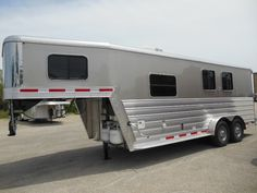 Wayne Hodges Trailer Sales 2014 KIEFER 2 HORSE LIVING QUARTERS, 18'5 X 7' WIDE X 7' TALL, DROP DOWN WINDOWS, SLIDER WINDOWS ON BUTT SIDE, COLLAPSIBLE REAR TACK, SOFA, COOKTOP, 40/60 BACK DOOR, WALK THROUGH DOOR, RUBBERS MAT IN HORSE COMPARTMENT, AWNING, CHAMPAGNE COLOR $31,900.00