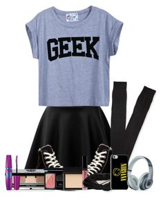 """I'm not a freak, I'm just unique"" by purplegirl74 ❤ liked on Polyvore featuring Converse, Aéropostale, Bobbi Brown Cosmetics, Christian Dior, Maybelline, NARS Cosmetics, Beats by Dr. Dre and country"