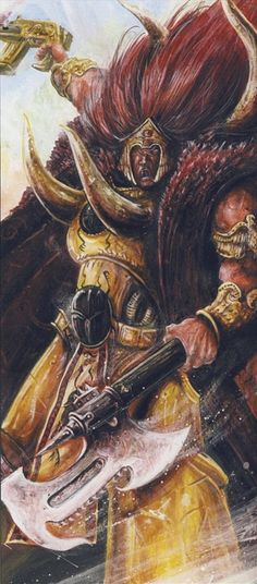 Magnus the Red, Primarch of the Thousand Sons. Samurai, Chaos 40k, Thousand Sons, The Horus Heresy, Far Future, Warhammer 40k Art, Red Art, The Grim, Space Marine