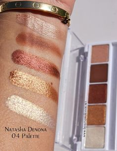 These shades hold more of a shimmer tone, displaying the swatches on the models arm.
