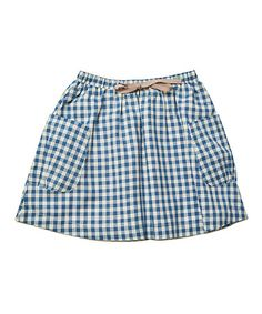 Another great find on #zulily! Prussian Blue Spring Skirt - Toddler & Girls #zulilyfinds