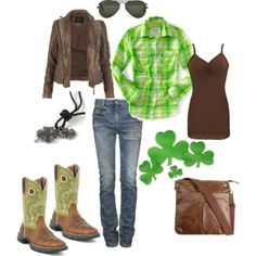 saint patty's day outfits   St. Patrick's Day Outfit featuring Durango Boots   My kinda style