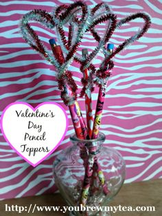 You Brew My Tea: Valentine's Day Pencil Toppers