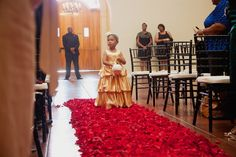 Red Petal Aisle - MarieSam Sanchez Photography