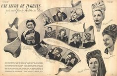 Vintage turban styling inspiration. #vintage #turban #hats #fashion #howto