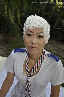 Forced Haircut, Bald Women, Shaving Cream, Hair Cuts, Action, Haircuts, Group Action, Hair Style, Haircut Styles