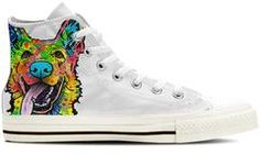 German Shepherd Women's High Top Shoes (WHITE) $139.99 -  $69.99 German Shepherd Women's High Top Shoes (WHITE)Are you an German ShepherdOwner who loves their Dog?  Then these custom designed High Top Shoesare a MUST HAVE!Full canvas double sided print with rounded toe construction.Lace-up closure for a snug fit.Metal eyelets for a classic look.Soft textile lining with lightweight construction for maximum comfort.High-quality outsole for traction and exceptional durability.Our womens shoe…