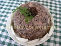 Bábovka - tlačenka Czech Recipes, Stuffed Mushrooms, Muffin, Pork, Ice Cream, Beef, Vegetables, Cooking, Breakfast