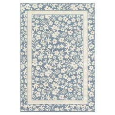 Loomed indoor/outdoor rug with a floral motif and frame border. Made in Egypt.    Product: RugConstruction Material: P...