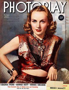 Carole Lombard, 'Photoplay' magazine, January 1940