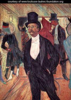 Portrait of Mr Fourcade - Henri De Toulouse-Lautrec - www.toulouse-lautrec-foundation.org