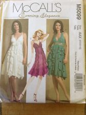 2000's McCall's M5099 Lined Evening Dress B29 1/2- 32 1/2 Sewing  Pattern