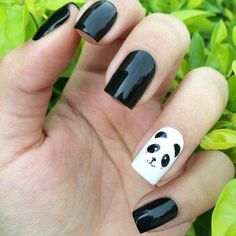 Give style to your nails using nail art designs. Worn by fashion-forward celebrities, these kinds of nail designs will incorporate instantaneous charm to your apparel. Cute Nail Art Designs, Toe Nail Designs, Nail Art For Kids, Cool Nail Art, Stylish Nails, Trendy Nails, Panda Nail Art, Nagellack Design, Best Acrylic Nails