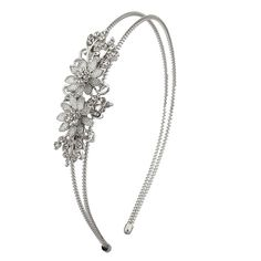 Lux Accessories Caviar Floral Flower Pave Crystal Stretch Bride Bridal Bridesmaid Wedding Headband. *** Continue to the product at the image link.
