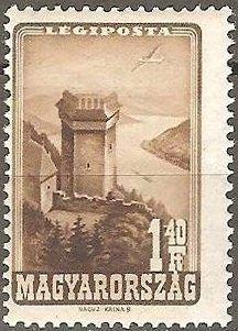 Sello: Solomon's Tower, Visegrád (Hungría) (Places of Interest) Mi:HU 952 Places Of Interest, Vintage World Maps, Tower, Stamps, Castles, Paper Envelopes, Seals, Computer Case, Towers